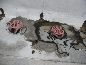 Damaged Roof Drains